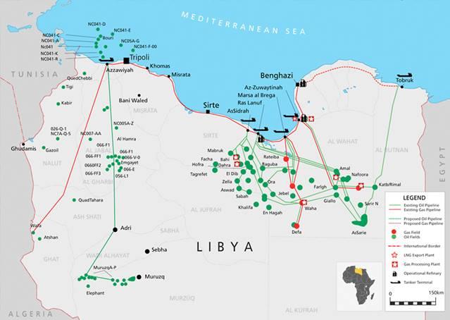 Нефтегазовая инфраструктура Ливии